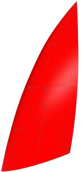 Nacra 6.0 25qm Spinnaker von Kangaroo Sails