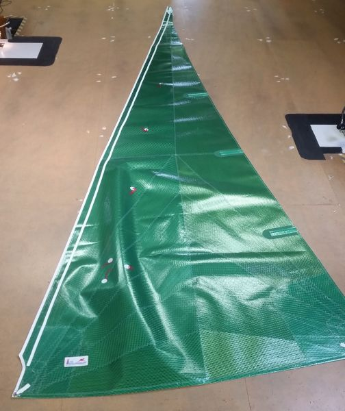 Nacra 5.7 Fock Mylar Grün von Kangaroo Sails